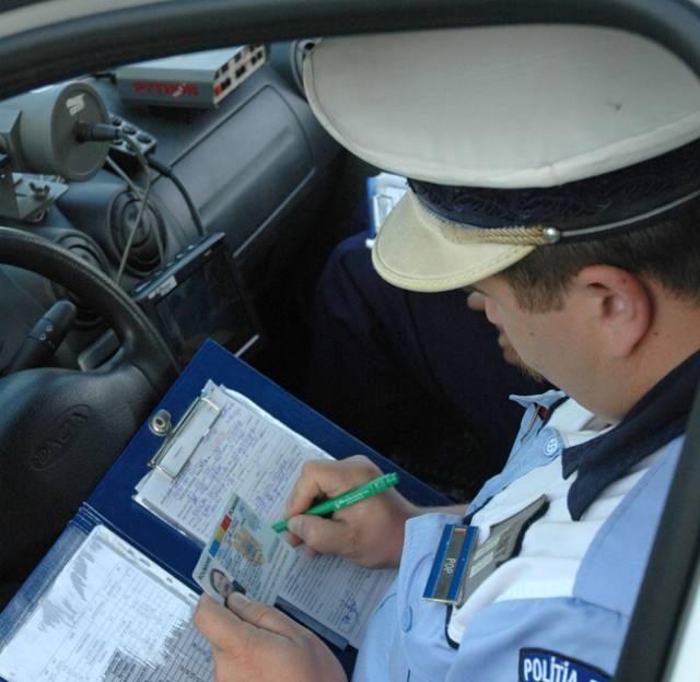 infractiune rutiera politist