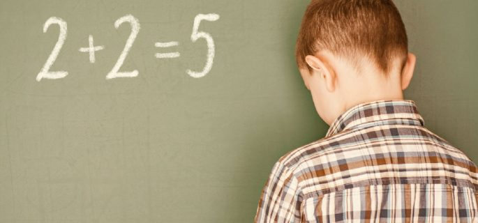 56703969 - boy incorrectly decisive simple mathematical example